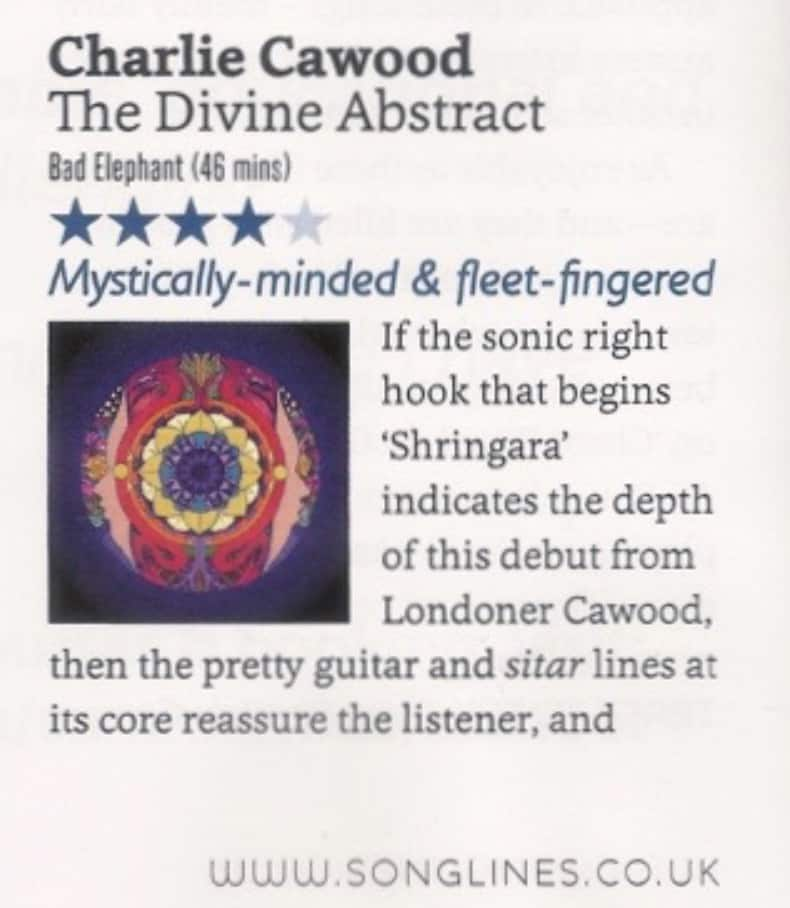 The Divine Abstract receives a 4* Review in Songlines Magazine (April 2018 Issue)