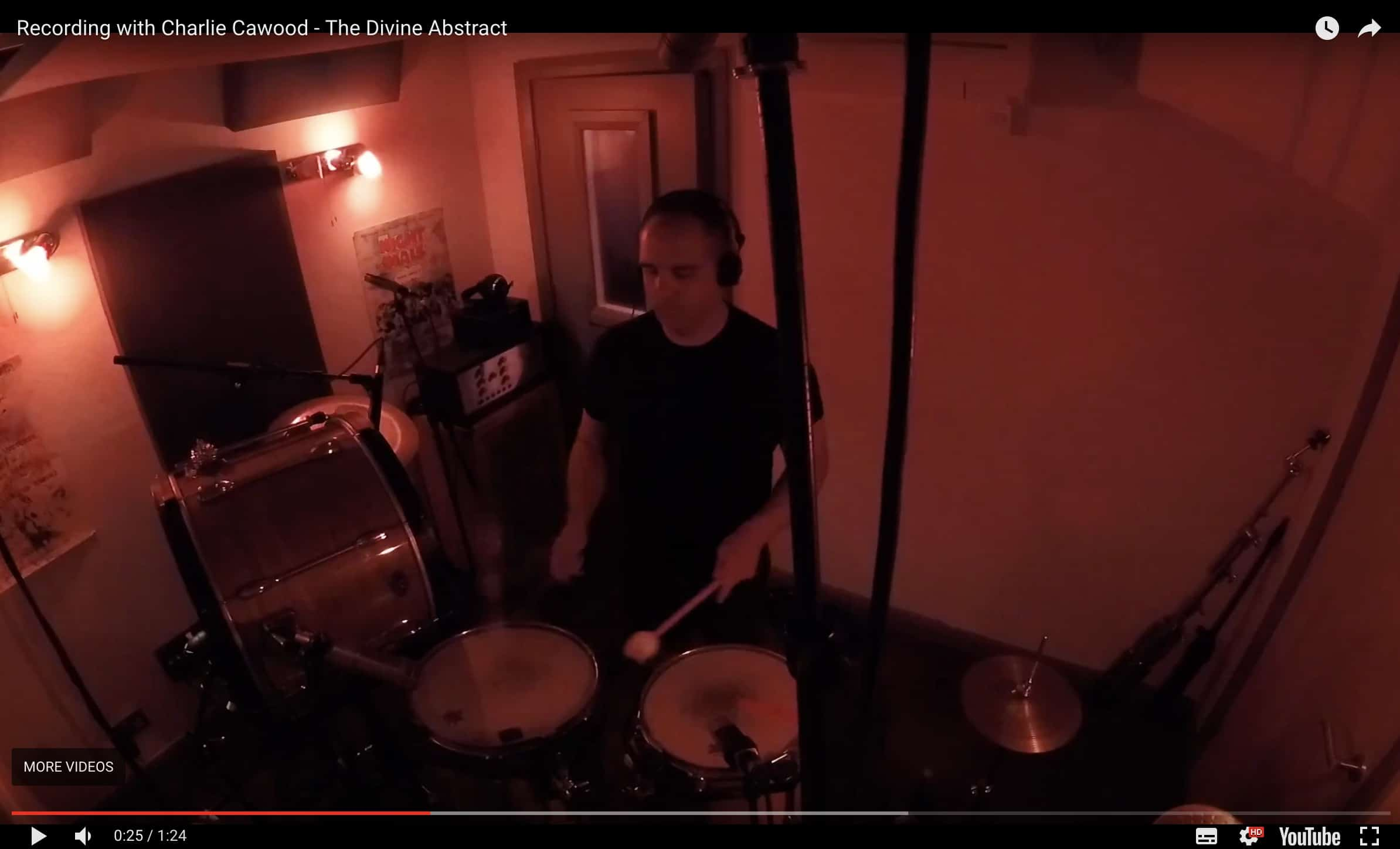 Watch: Ben Woollacott Records Drums for The Divine Abstract