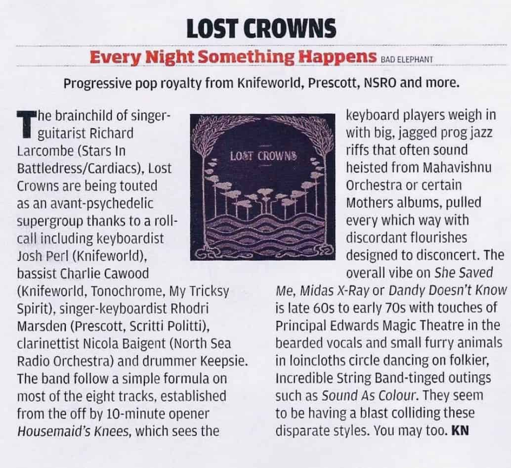 Prog Magazine reviews Lost Crowns